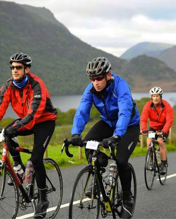 Express solicitors charity cycle ride in the countryside